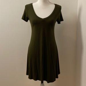 Dark Green T-Shirt Dress-Small